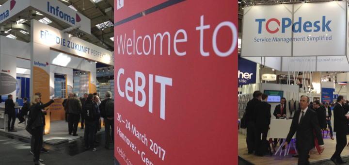 Große Präsentation, kleines CAFM: Axians Infoma und TOPdesk sind auch dieses Jahr auf der CeBIT mit eigenen Ständen vertreten (Fotos: CeBIT; CAFM-News)