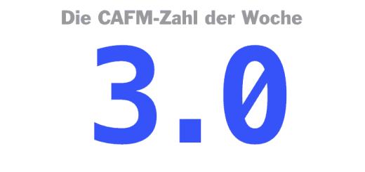 Die CAFM-Zahl der Woche ist die 3.0 – für den aktuellen USB-Standard.