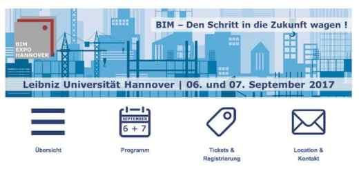 Unter dem Titel BIM Expo 2017 findet im September an der Uni Hannover ein BIM-Symposium statt