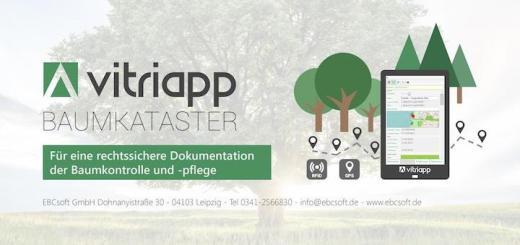 """Schlicht und pragmatisch """"Baumkataster"""" heißt eine neue App für die CAFM-Software Vitricon von EBCsoft"""