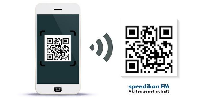 Mit QR-Codes kann Speedikon C Zugriffsrechte und mehr in seinen Apps konfigurieren