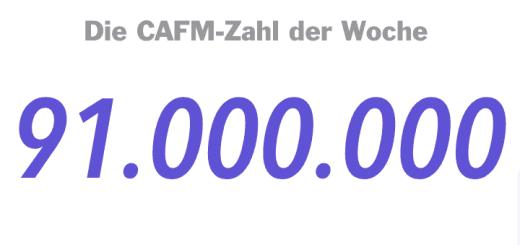 Die CAFM-Zahl der Woche ist die 91.000.000 für die Gesamtfläche im aktuellen FM.Benchmarkingbericht 2017
