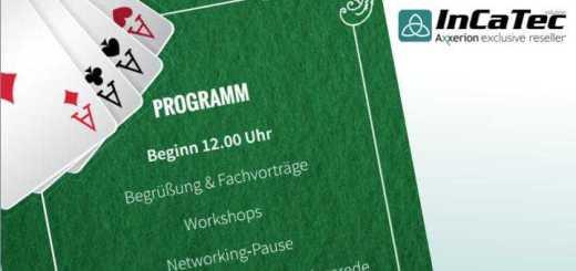 InCaTec Solution lädt im März 2018 zum ersten Axxerion Anwendertreffen ein – und im Anschluss zu einem Casino-Abend