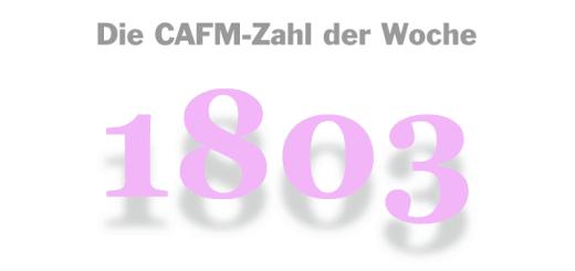 Die CAFM-Zahl der Woche ist die 1803 – die Nummer der verspätet kommenden nächsten Windows 10 Version