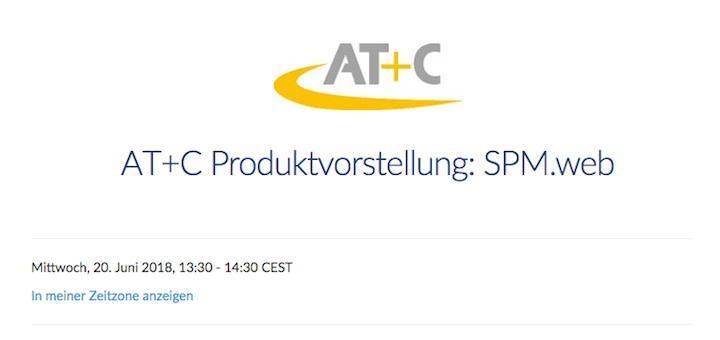 AT+C stellt in Kürze sein neues Modul SPM.web vor