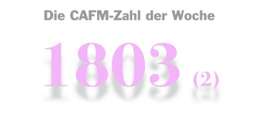 Die CAFM-Zahl der Woche ist die 1803 –zum zweiten Mal, weil sich Microsoft scheinbar langsam zum Erfolg durchwurstelt