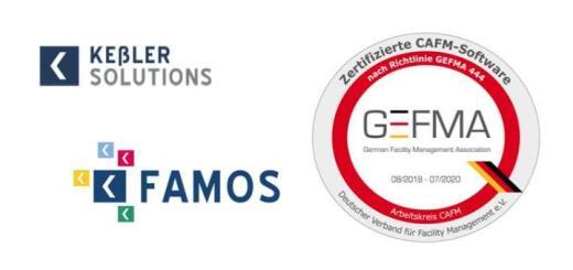 Auch Keßler Famos ist GEFMA 444 inklusive BIM-Katalog zertifiziert