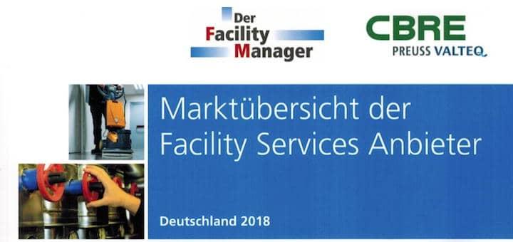 Die Marktübersicht Facility Services Anbieter 2018 ist erschienen
