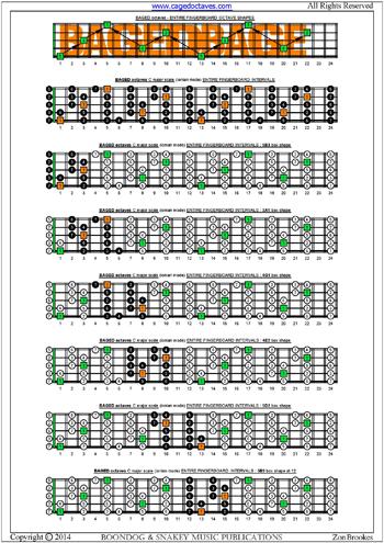 BLOGoZON No60 - 5 string bass C major scale box shapes plus Keith B