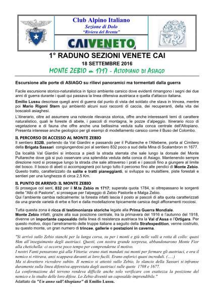 Escursione sul Monte Zebio fg.1 18/09/2016
