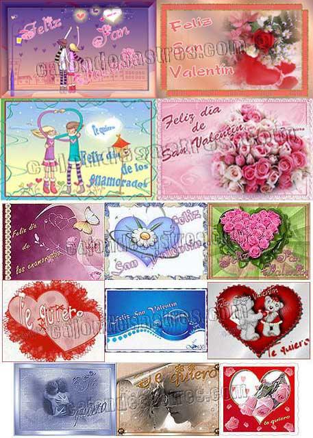 Descargar gratis tarjetas de los enamorados y marcapáginas de San