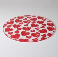 Red Hearts Design Cake Plate only 20.83