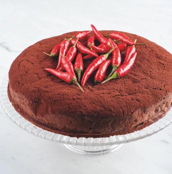 Torta messicana di cioccolato e peperoncino. da