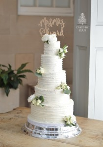 Rustic Buttercream 5 tier