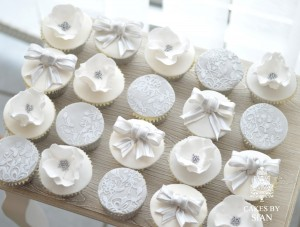 Silver and White Cupcakes
