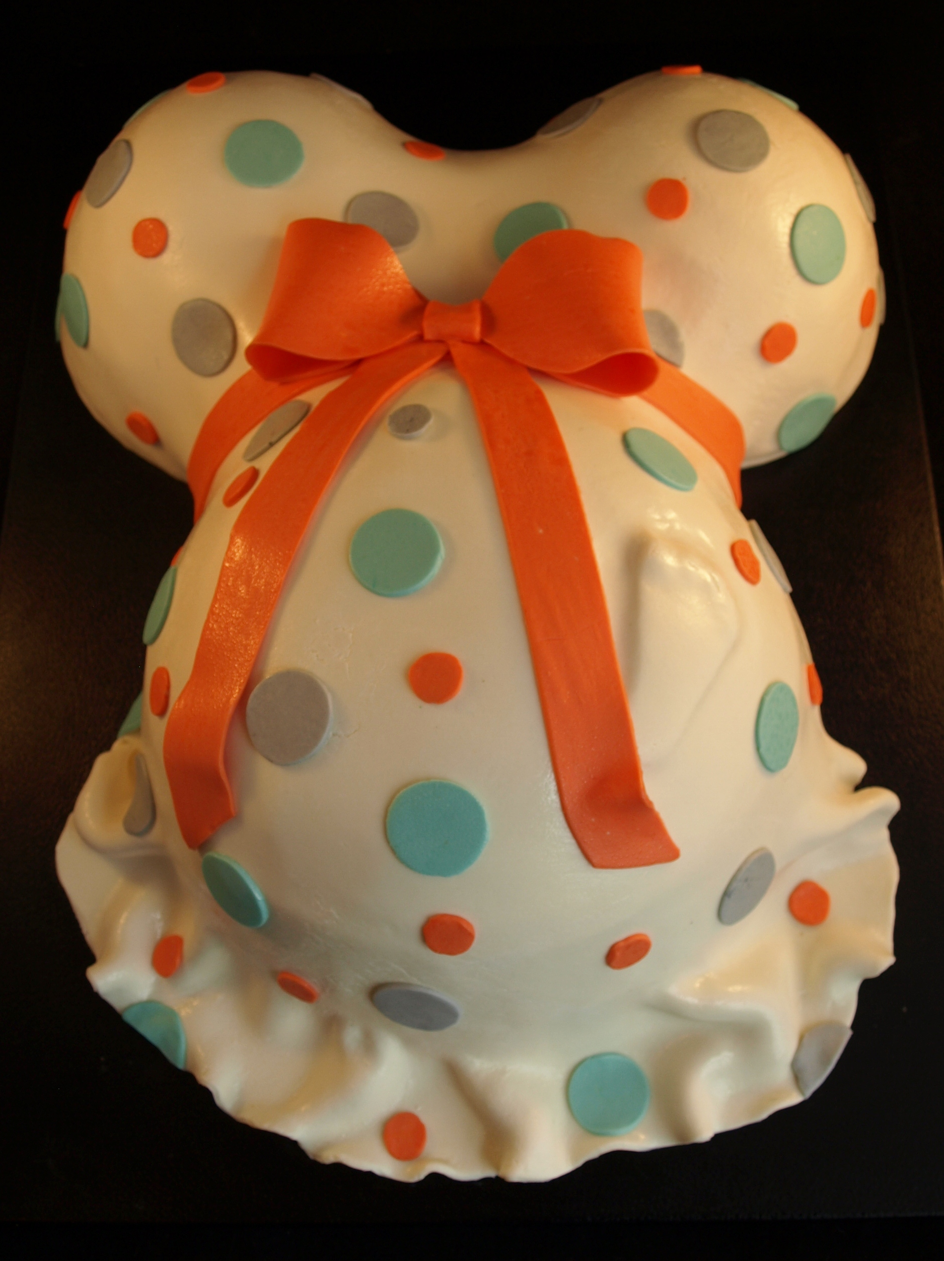 Baby Shower Cake Pregnant Belly With Foot