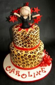 Cheetah leopard Birthday Cake