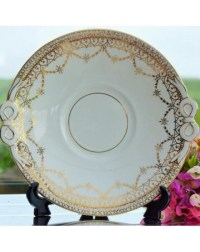 GOLD VICTORIAN Cake Plate