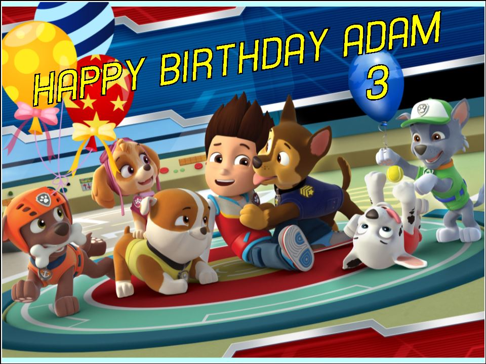 Seasonal Wallpaper For Iphone A4 Personalised Paw Patrol Edible Icing Or Wafer Birthday