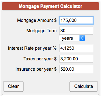 Mortgage Payment Calculator with Taxes and Insurance