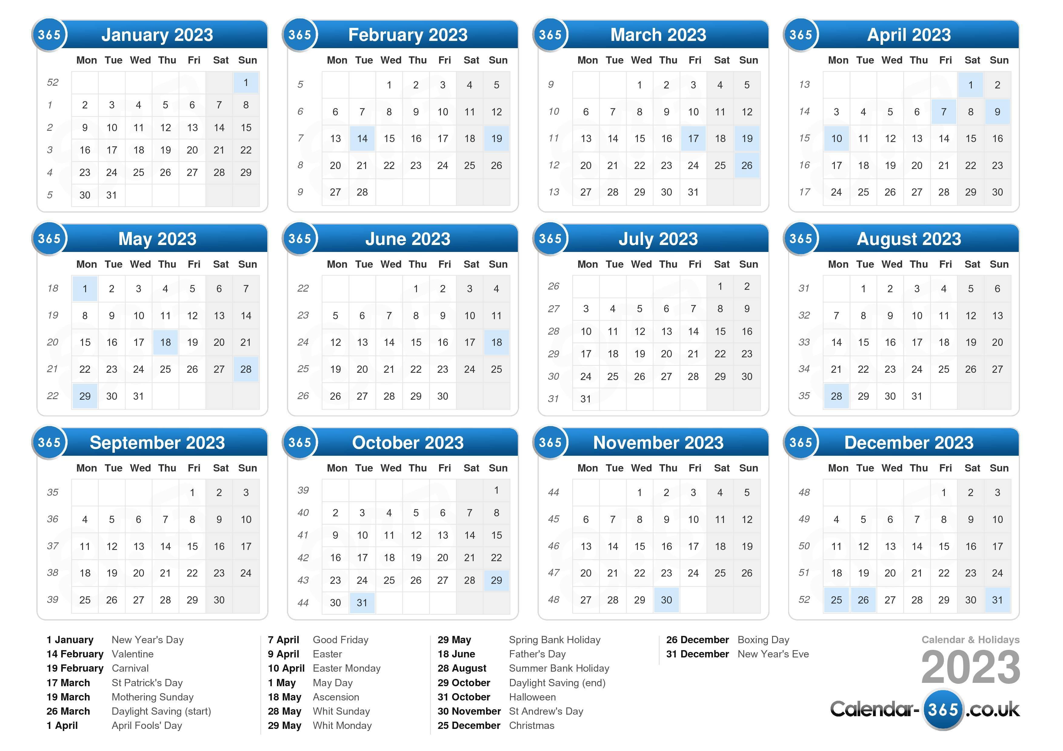 Calendar 2016 Uk With Bank Holidays Excelpdfword Templates Calendar 2023