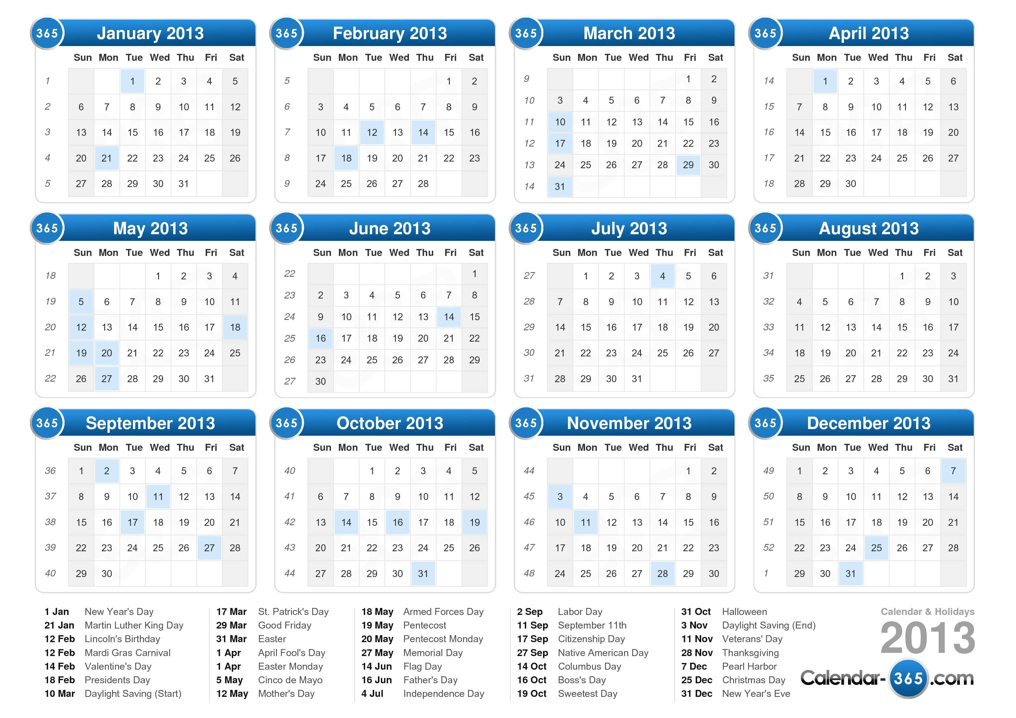 Free Printable Calendars September 2013 Free Printable Calendars The Spruce 2013 Calendar