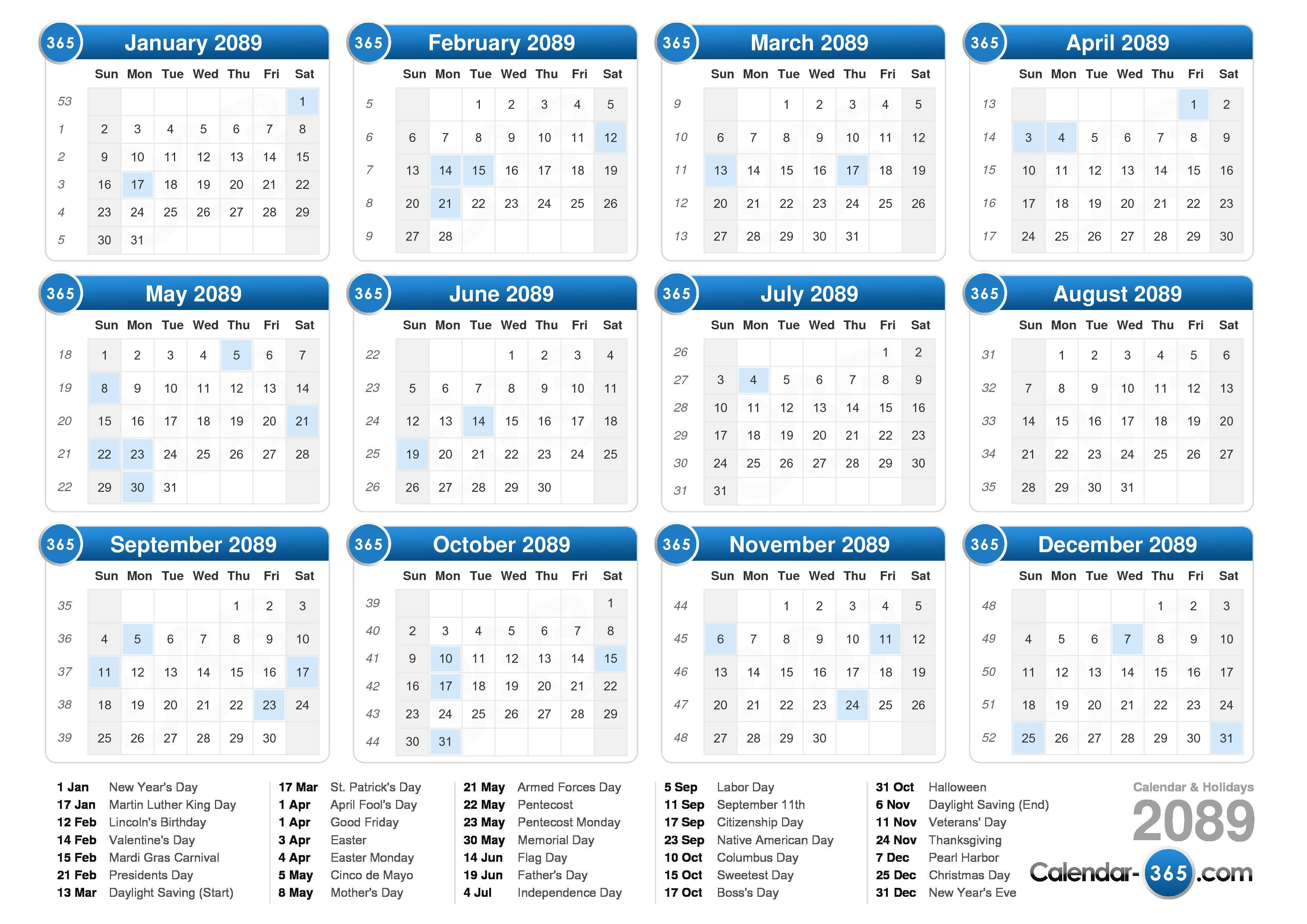 Gregorian Calendar Day Of Week December The Gregorian Calendar Time And Date 2089 Calendar