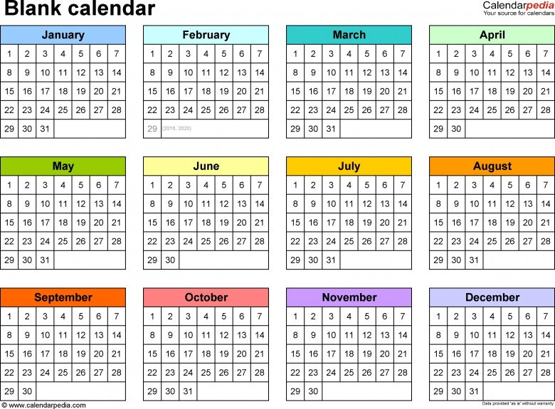 Free 2018 Pdf Calendar Templates Download Print 2018 Printable Multi Month Calendars Free Calendar Template