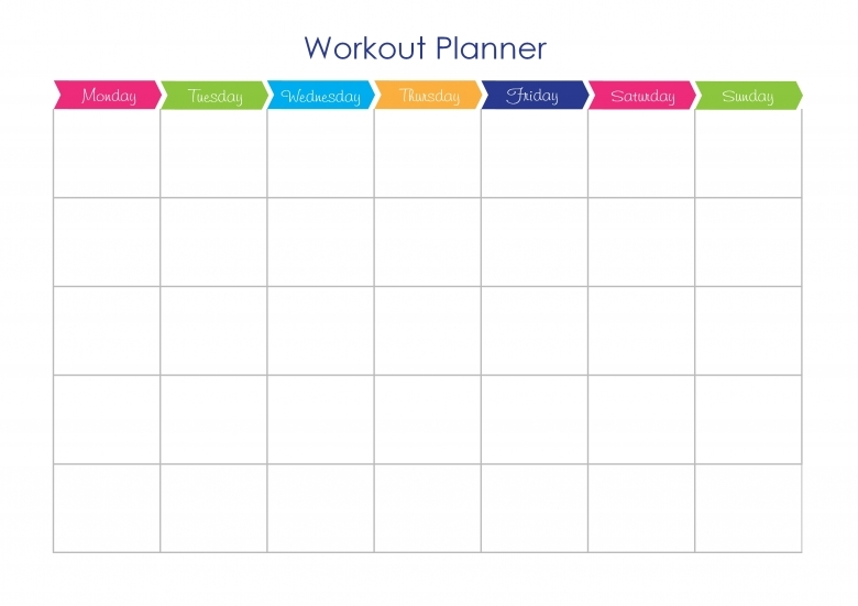 Exercise Plan Template Good Way To Keep Track Of All The - workout calendar template