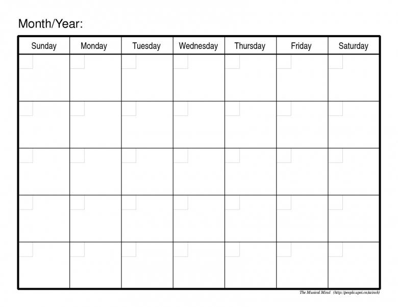 blank printable calendar template - Vatozatozdevelopment - Printable Blank Calendar