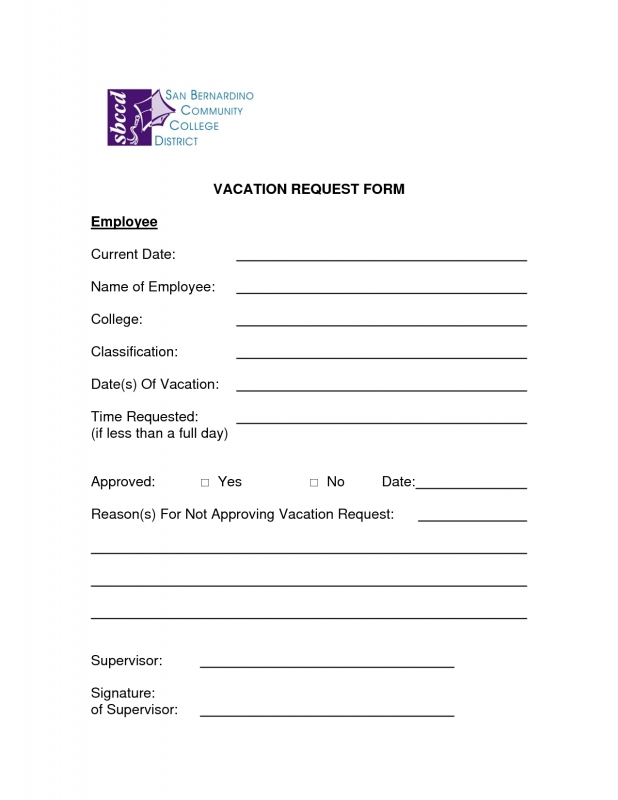 employee time off request template