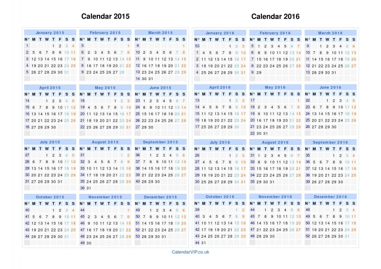 Yearly Calendar With Numbered Days Calendars Printfree Printable Monthly 2015 Calendar With Numbered Days 365 Free Calendar Template