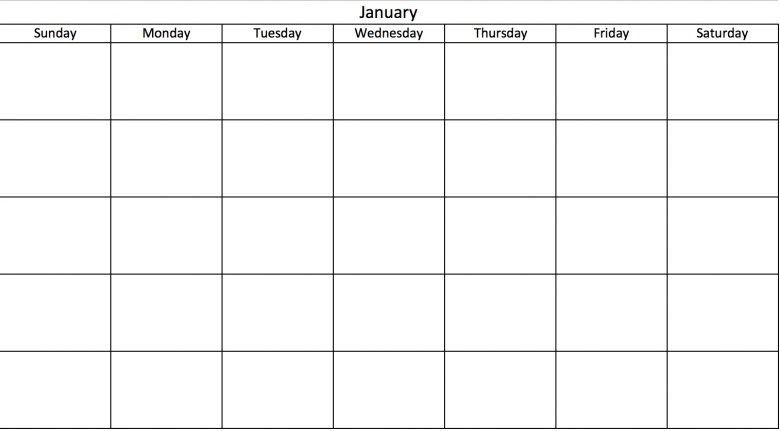 How To Make A Calendar On Excel How To Create A Calendar In Microsoft Excel With Pictures Blank 31 Day Calendar Free Calendar Template