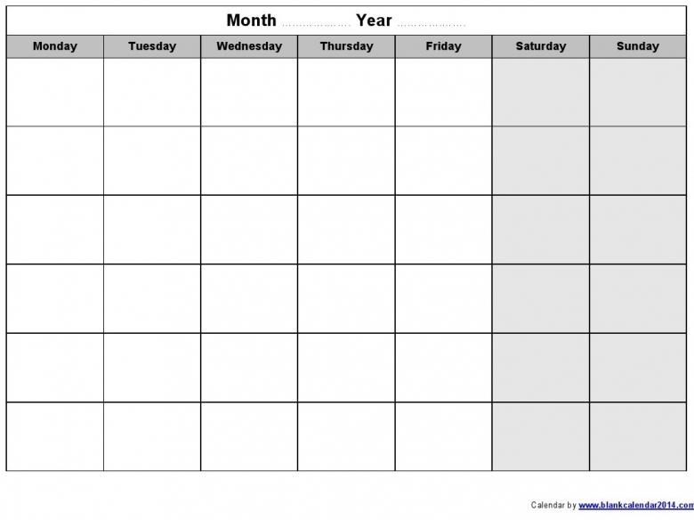 Calendar Template Monday Through Friday September 2017 Printable Calendar Template Printable Monday Through Friday Monthly Calendar Free Calendar