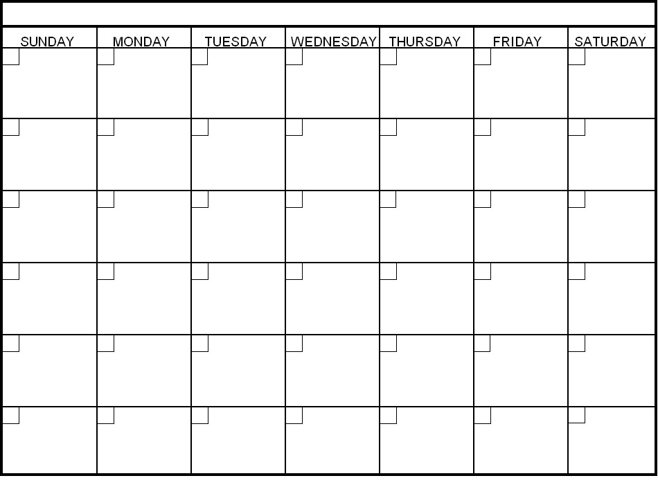 Blank Six Week Calendar Template - Printable Bi Weekly Calendar