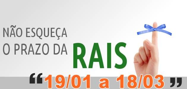 Prazo de entrega da RAIS 2016