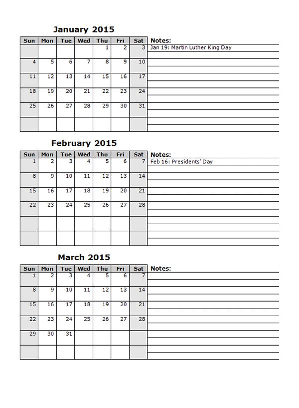 Calendar Templates 2016 For Word View Calendar 2015 Monthly Calendar ...