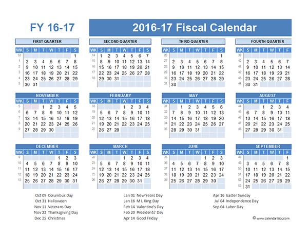 Calendar For Year 2017 United States Time And Date Financial Year Calendar 2016 Printable Calendar Template