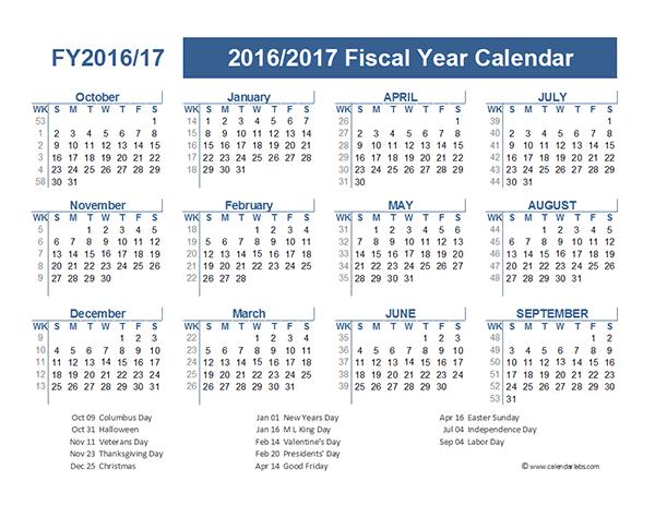 calendar template year