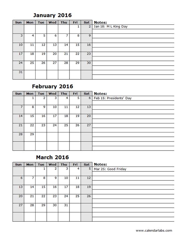 2016 Holidays Calendar Usa Free Online Calendar 2016 Excel Calendar Quarterly Spreadsheet Free Printable