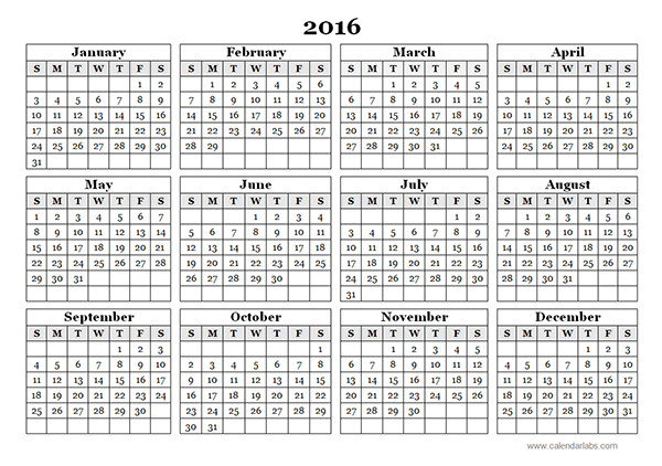 Yearly Calendar Of Days And Facts Daily Horoscope Weekly Monthly Yearly Horoscopes 2018 Year 2016 Yearly Calendar Template 09 Free Printable Templates