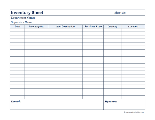 School Inventory Template - Costumepartyrun