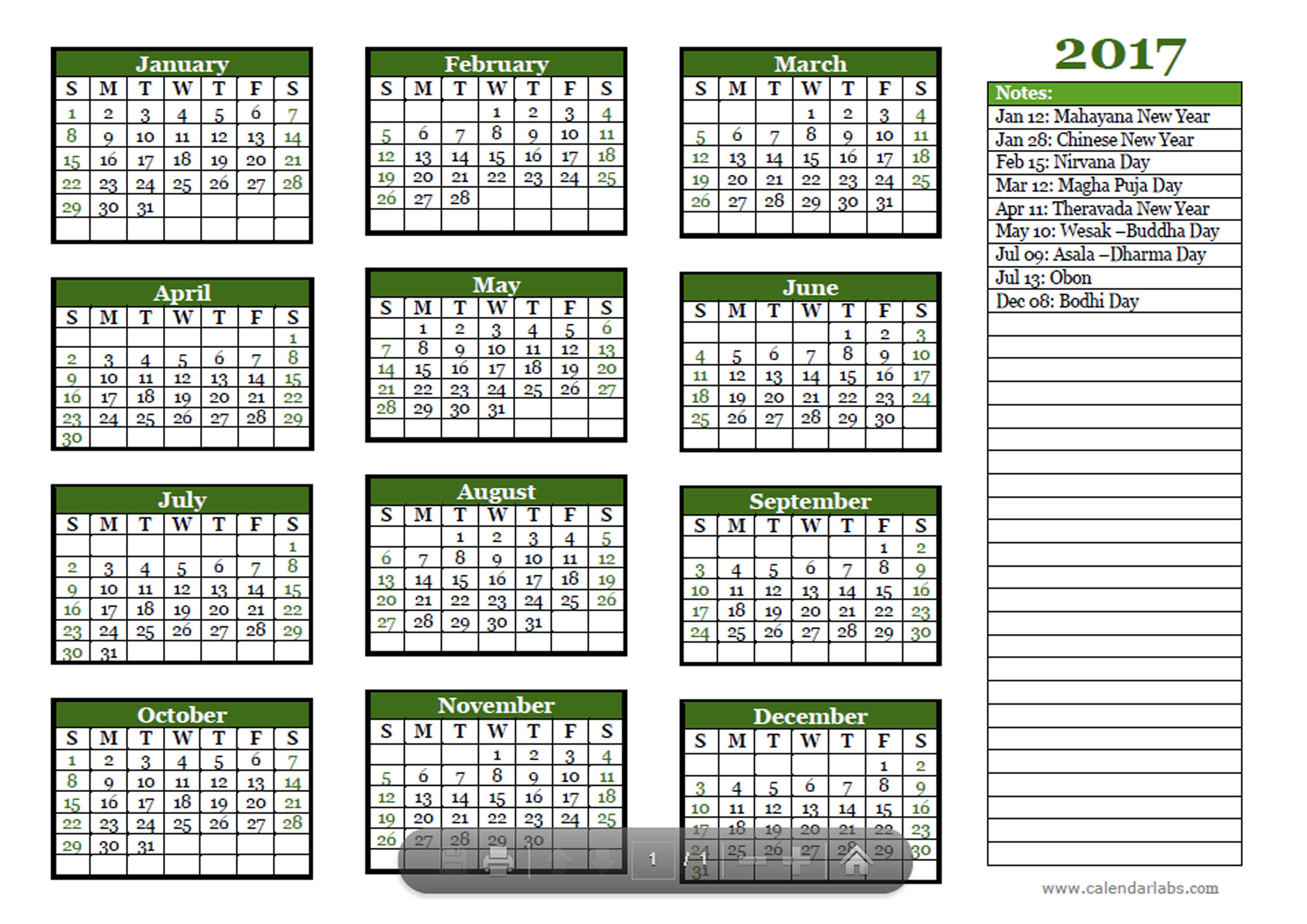 Excel Calendar Template Download Free Printable Excel 2017 Buddhist Festivals Calendar Template Free Printable