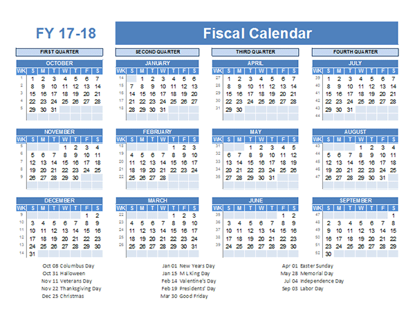 Financial Year Calendar Template Costumepartyrun