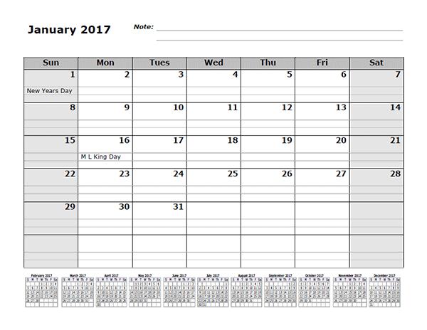 Online Calendar Google Docs Google 2017 Monthly Calendar Template With 12 Months References