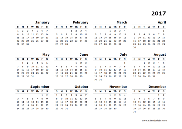 Whole Year Calendar Clipart Software Summaries For Windows Freeware Shareware Utilities 2017 Yearly Calendar Blank Minimal Design Free Printable