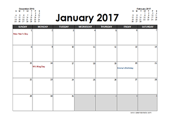 Custom Online Calendar Xls 2017 Calendar Download 17 Free Printable Excel Templates 2017 Excel Monthly Calendar With Notes Free Printable