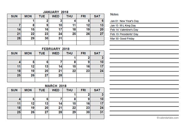 Quarter Calendar Template Costumepartyrun