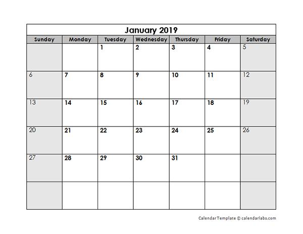 blank monthly calendar template word