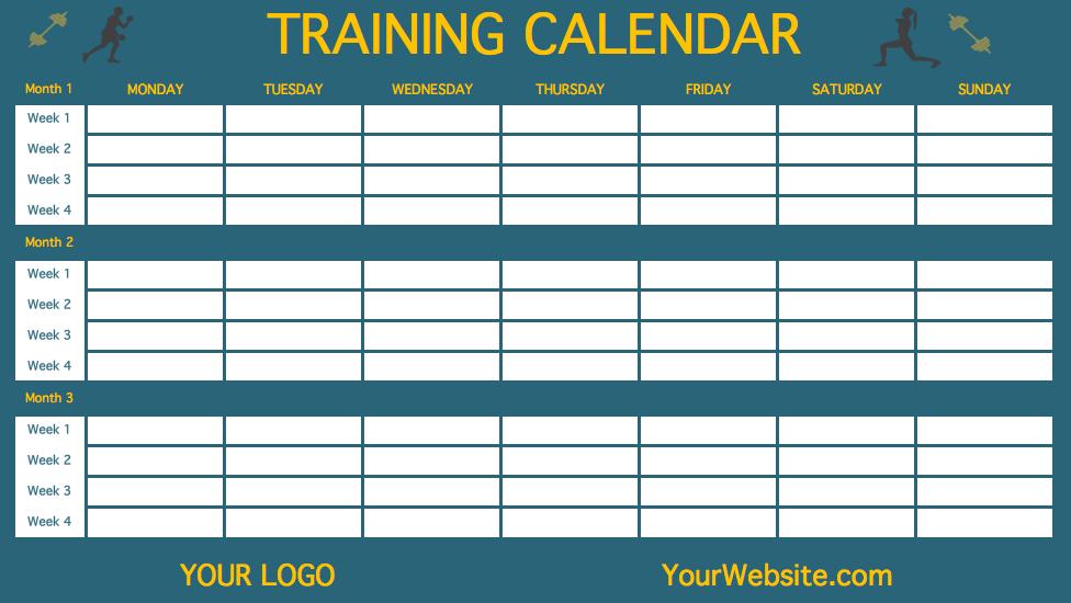 90 Day Calendar Printable Calendar Template 2018